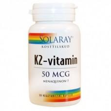 Vitamina K2, MK7, 50 mcg, solaray